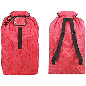 Car Seat Travel Bag Airport Gate Check With Easy To Carry Backpack Style Shoulder Straps Your Cars In Flight420D Red