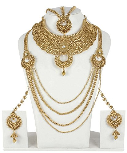 Buy Muchmore Gold Plated Polki Bridal Necklace Set Indian Wedding Jewelry For Women Online At Low Prices In India