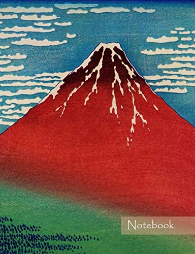 "Notebook: Composition Notebook. College ruled with soft matte cover. 120 Pages. Perfect for school notes, Ideal as a journal or a diary. 9.69"" x ... idea. (Japanese art Fuji mountain -"