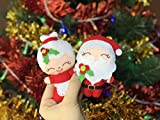 Felt Santa Claus Ornaments for Christmas Tree - Garland Decorations for Home - Mrs Claus Doll for Kids - Unique Christmas Set - Plush Xmas Wall Decor for Home -  BabiesCare