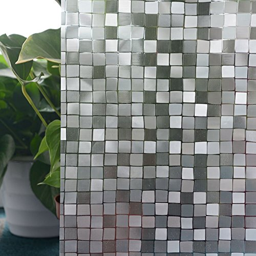 Translucent Vinyl (Cyber Roll Window Film Privacy Vinyl No Glue Static Self-Adhesive Stained Glass Film Decoration Membrane Square)