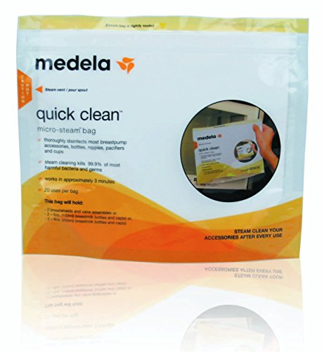 Medela Quick Clean Micro-Steam Bags Individual -- 8 pack (Medela Bags For Microwave compare prices)