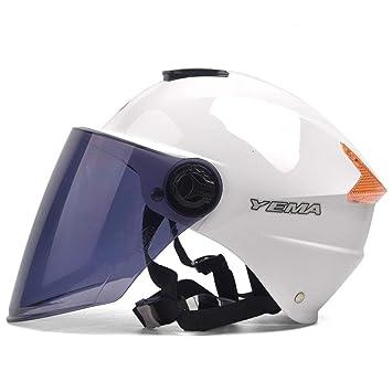 Cascos moto Casco protector solar protección UV casco ligero medio casco hombres y mujeres (Color