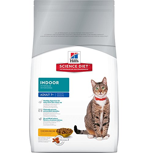 Hill's Science Diet Adult 7+ Indoor Dry Cat Food, 7-Pound Bag