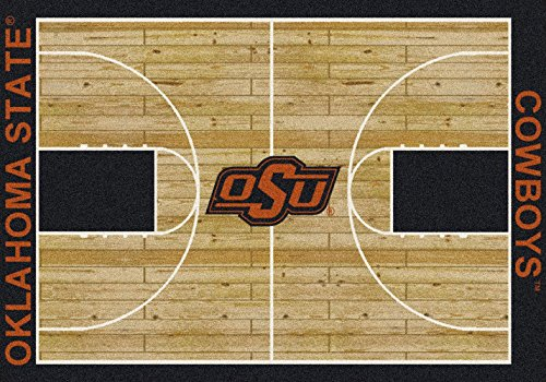 American Floor Mats Oklahoma State Cowboys NCAA College Home Court Team Area Rug 10'9