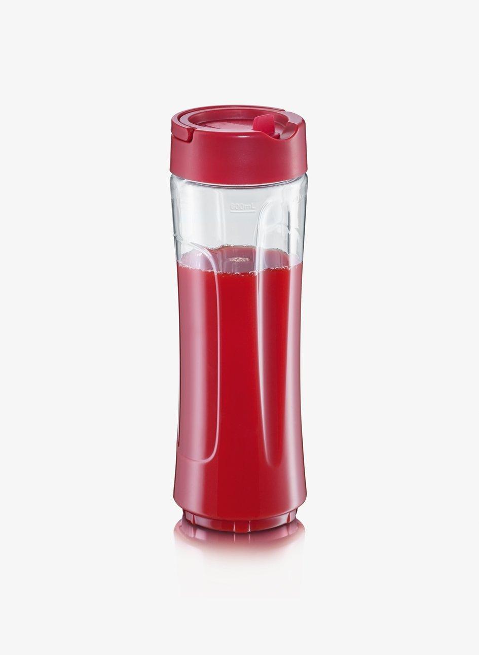Severin Smoothie Mix & Go Batidora, 300 W, 0.6 litros, Blanco y Rojo: Amazon.es: Hogar