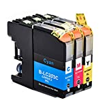 Aprobu Ink Cartridge for Brother LC203 LC201 LC203XL(3-Pack,1 LC203C 1 LC203M,1 LC203Y) High Yield Compatible with Brother Series Printers