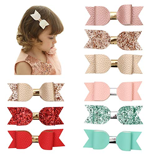 Xinshi Cute Cat Ear Hair Clips Bears Ear Barrettes Bow for Baby Girl Toddlers Kids (XS-F(9PCS))