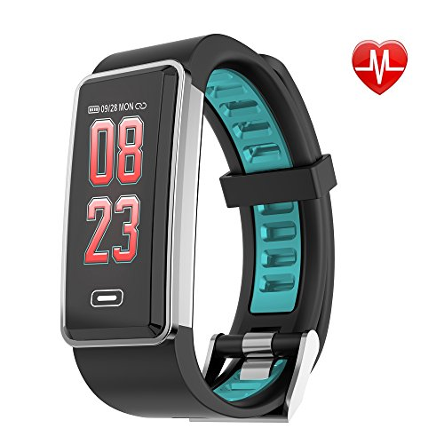 t Rate Monitor Waterproof SmartWatch Colorful Wristband Activity Tracker Pedometer, Sleep Monitor, Alarm Clock, Birthday Christmas Gift for Men, Women, Kids ()