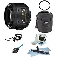 Nikon AF-S DX NIKKOR 35mm f/1.8G Lens Bundle with Tiffen 52mm UV Protection Filter + Medium Lens Case + Accessories