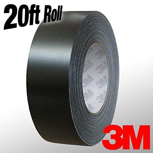 (VViViD 3M 1080 Black Matte Vinyl Detailing Wrap Pinstriping Tape 20ft Roll (1