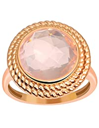 5.9 Ct Natural Rose Quartz Rose Gold Vermeil Handmade Ring