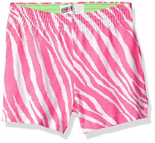 - Soffe Girls' Big Authentic Cheer Short, Pink Zebra/Lime, Extra Small