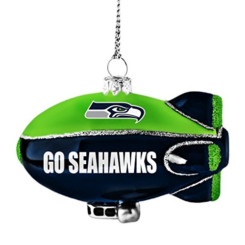 NFL Seattle Glitter Blimp Ornament
