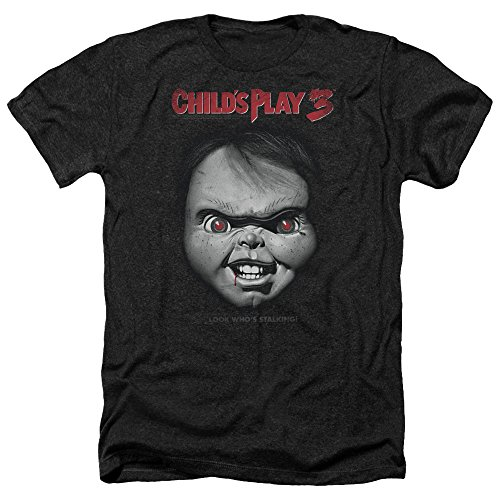Child's Play Horror Thriller Movie Chuckie Face Poster Adult Heather T-Shirt Tee for $<!--$24.95-->
