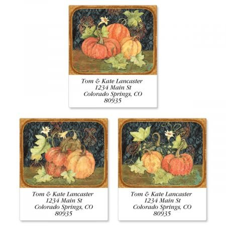 Thanksgiving Return Address Labels (3 Designs) - Set of 144 1-1/2 x 1-3/4 Autumn Self-Adhesive, Flat-Sheet labels ()