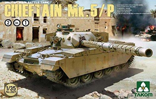 British Tank Main Battle (Takom 1:35 British Main Battle Tank Chieftain Mk.5/P 2 in 1 Model Kit #2027)