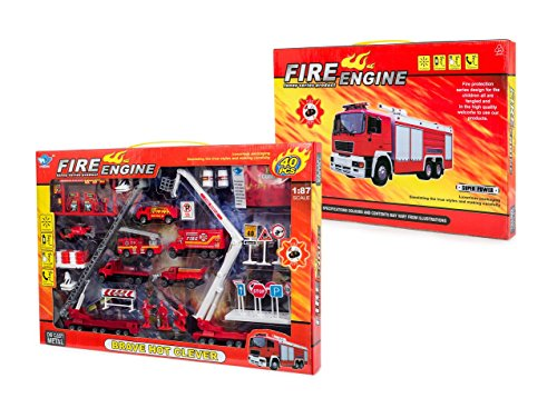 Big-Daddy Fire Rescue Toy Play Set Includes over 40 Fire Truck Toy And Accessories To Create The Perfect Emergency Scene
