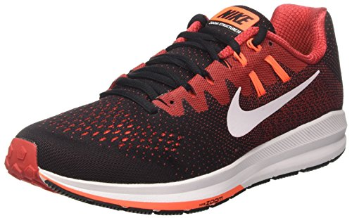 Nike Air Zoom Structure 20, Zapatos para Correr para Hombre Negro (Black/white/university Red/hyper Orange)
