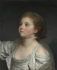 The polyster Canvas of oil painting 'Jean Baptiste Greuze A Girl ',size: 10 x 12 inch/25 x 31 cm,this Replica Art DecorativeCanvas Prints is fit for Living Room decor and Home artwork and Gifts