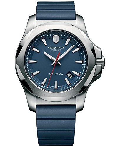 Victorinox Swiss Army INOX 241688.1 Mens Wristwatch Solid - Dial Watch Army Swiss Blue
