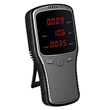 Ausomely Monitor de Calidad del Aire Interior Detector de Smog de formaldehído PM2.5 con Pantalla LCD a Color Sistema operativo Inteligente multifunción y ...