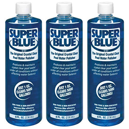 Robarb 20152A Super Blue Crystal Clear Pool Water Clarifier, 8 Fl Oz (3 Pack)