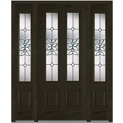 Plastpro National Door Company Z006428L Fiberglass Oak Es...
