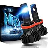 NINEO H11 LED Headlight Bulbs, H8 H9 CREE XPL Chips, Cool White Conversion