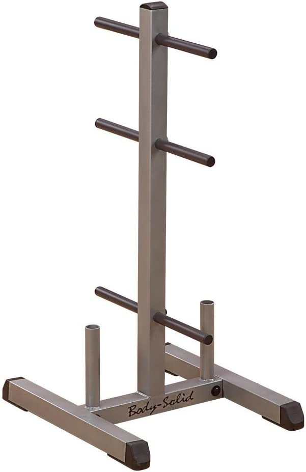 Body-Solid Standard Weight Plate Tree and Bar Holder GSWT