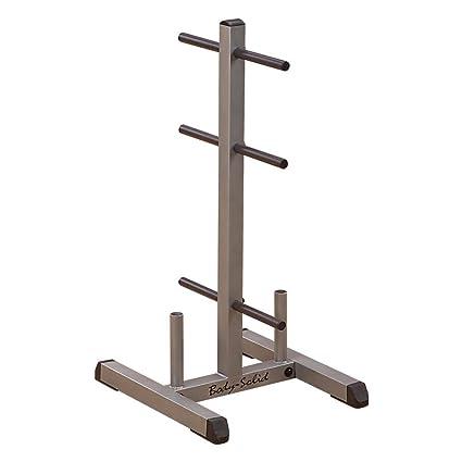 Body Solid disco mancuerna bastidores, barras de pesas con barras de
