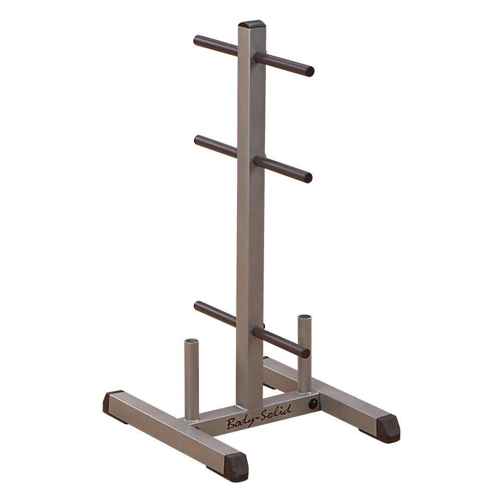 Body Solid Hantelscheibenständer, mit Stangen für Hantelstangen
