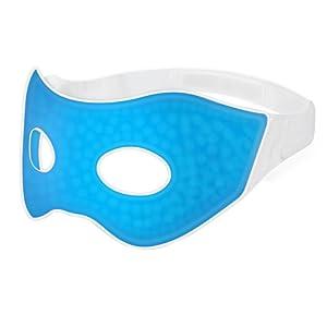 PLEMO Masque des Yeux Masque de Refroidissement Composé de Gel, pour le Sommeil ou Voyage, Soins Chauds ou Froids, Idéal pour Insomnies, Gonflement et Cernes