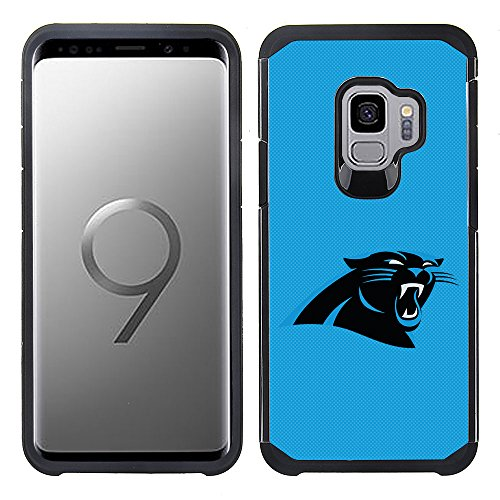 (Prime Brands Group Textured Team Color Cell Phone Case for Samsung Galaxy S9 - NFL Licensed Carolina Panthers)