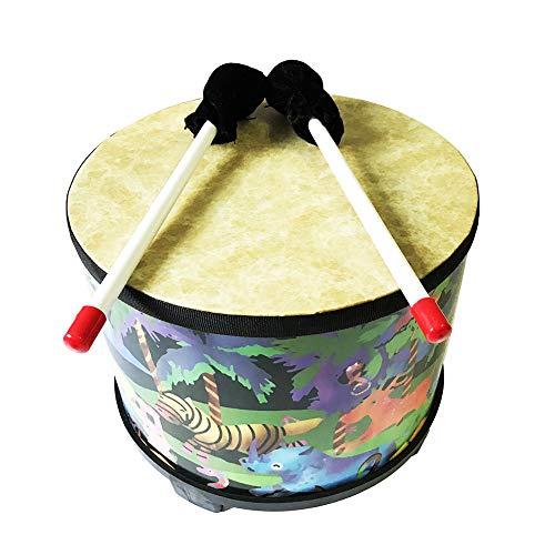 (sJIPIIIk552 Cartoon Animal Wooden Floor Drum Mallets Percussion Musical Instrument Kids Toy Forest)