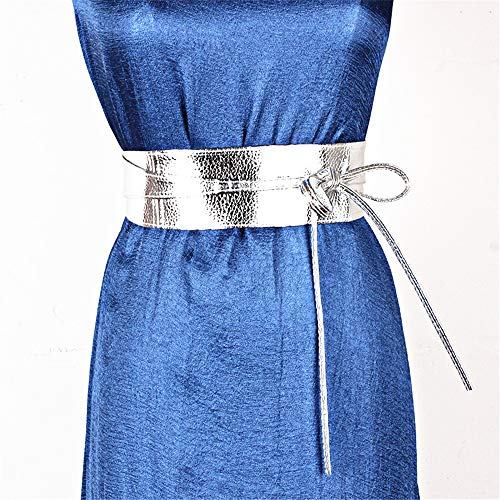 Z&YY Spring, Summer and Autumn Dress Belts Women's Clothing Accessories Wide Ribbon Bow Two-Ring Belt Belt. (Color : ()