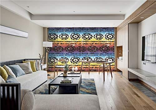 iPrint Sheer Voile Curtains,Batik Decor,Hippie Regular Rotary Circles