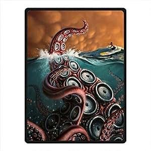 "'dalliy tipo Octopus–Manta de microfibra Cozy kuscheldecke fleeze Blanket 58""x 80about 147cm x203cm., lana, E, 58"" x 80"""