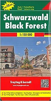 Selva Negra, mapa de carreteras. Escala 1:150.000. Freytag & Berndt.: Toeristische wegenkaart 1:150 000 (Road Maps)