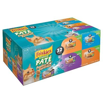 Lot Quality Purina Friskies Poultry Wet Cat Food Variety Pac