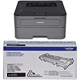 Brother Printer EHLL2320D Compact Laser Printer With Duplex Printing (Certified Refurbished) and Mono Laser Toner Cartridge