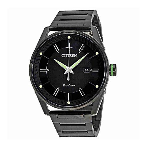 Citizen Men's Eco-Drive Black And Green Watch Citizen Mens Bracelets