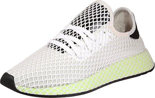 adidas Deerupt Runner Herren Sneaker Weiß Weiß Schwarz Gelb