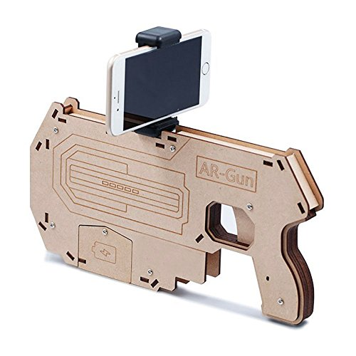 AR Gun,Sodope AR Attack Augmented Reality Gun Game Controller for iPhone/Android Cell phones, 360° Bluetooth Aircraft Shooting Blaster Toy Gamepad Game Phone Holder Pressure Release Toy (Big)