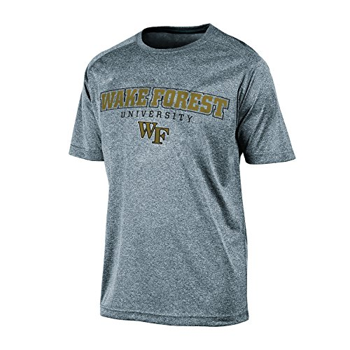 NCAA Wake Forest Demon Deacons Men's Impact Heather Jersey T-Shirt, X-Large, Gray Heather
