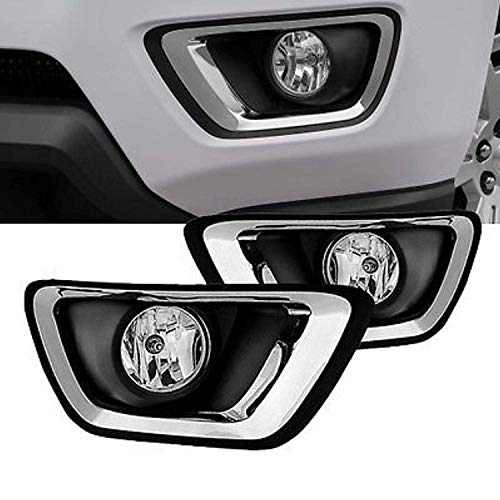 Remarkable Power FL7082 Fit For 2015-17 Chevy Colorado Clear Lens Bumper Lamps Pair Fog Lights Only