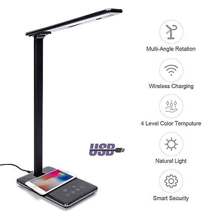 Amazon.com: GooDGo Qi - Lámpara LED de mesa de escritorio ...