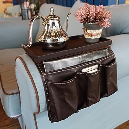 BT/_ Sofa Couch TV Remote Control Holder Armrest Organizer Storage Bag Pouch Pock