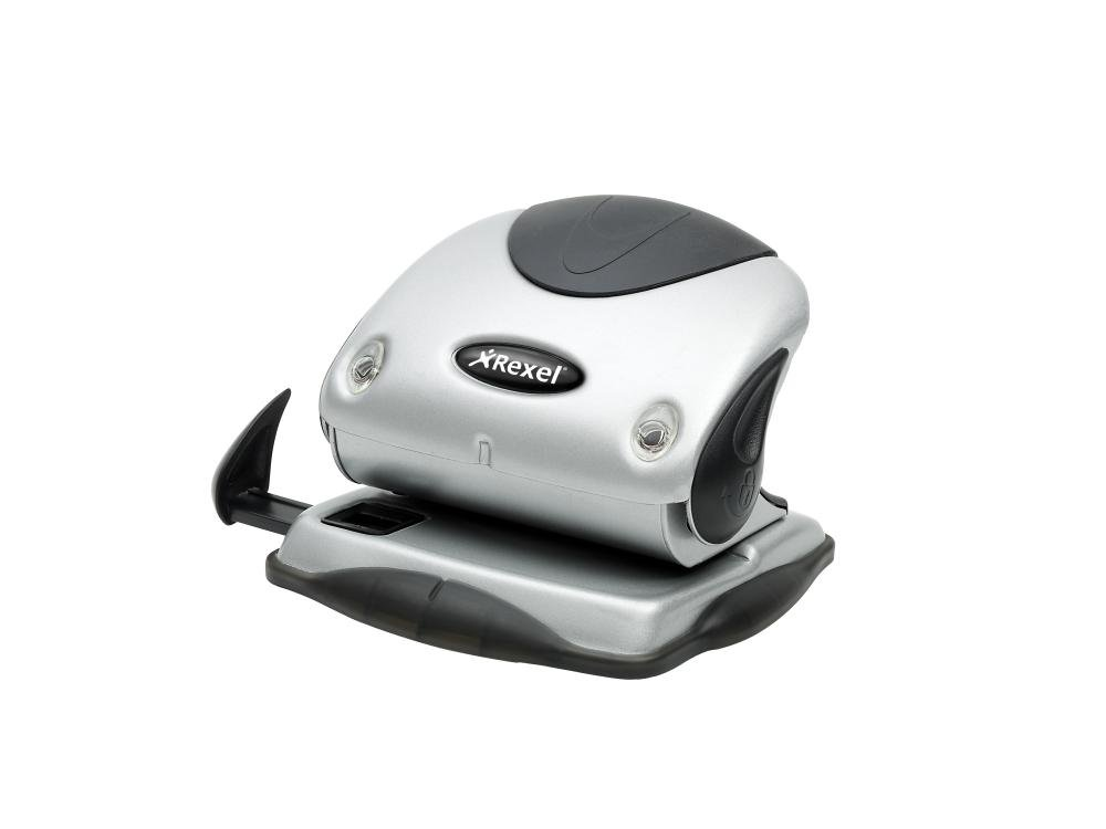 Argento//Nero Rexel 2100738 P215 Precision Perforatore a 2 Fori Precision