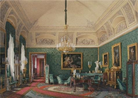 Oil Painting 'Hau Edward Petrovich,The First Reserved Apartment,The Small Study Of Grand Princess Maria Nikolayevna,1807-1887' 18 x 25 inch / 46 x 65 cm , on High Definition HD canvas prints, decor